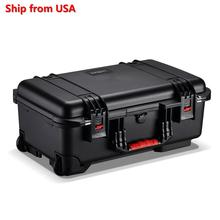 JASUN 5119 Camera Case with Wheels,Black Waterproof Hard Case with DIY Customizable Foam/stocked in USA