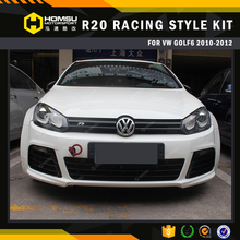 body kit / rear bumper R20 Racing style pp / frp material rear bumper replacement bodykit auto parts for volkswagen golf 6