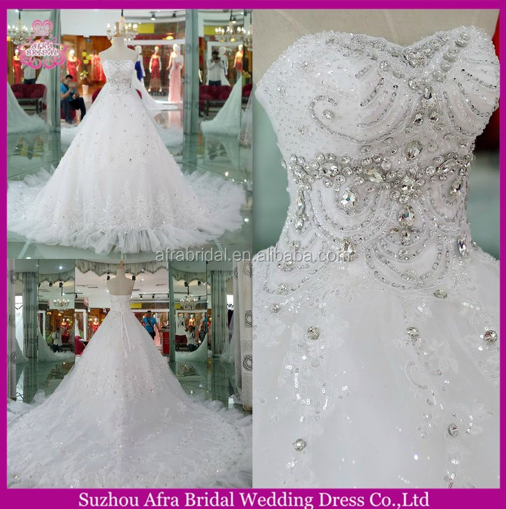 SW279 luxurious discount cheap lace long train summer wedding dresses