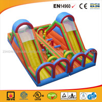 Cheap Colorful Inflatable Double Supper Slide/Hot Sale Inflatable Bouncer With Slide/Commercial Use Inflatable Slide Bouncer