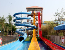 Water Park Used Fiberglass Water Slide for Sale new design (HT-06)