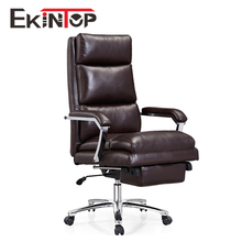 Luxury Executive full leather Office Chair with Head Support Height Adjustable foot rest