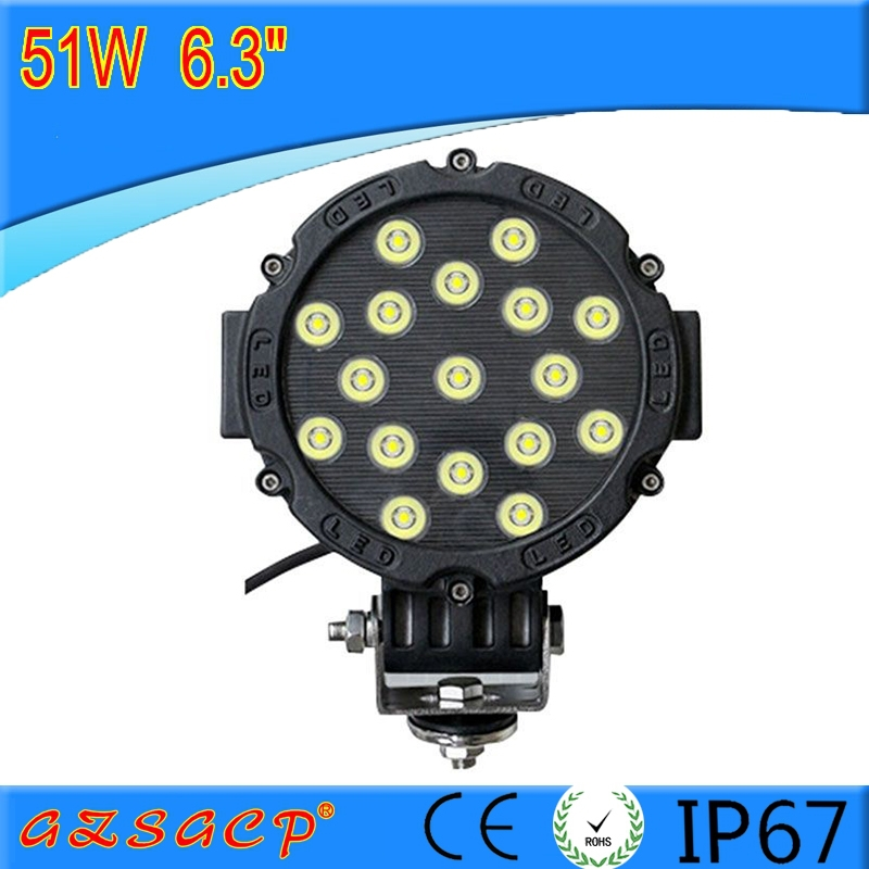 factory price wholesale 6.3'' 51W car led light auto accessories 81703
