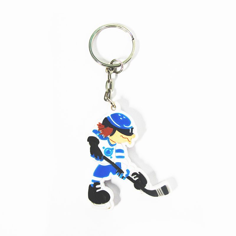Wholesale Keychain Design Fashion 2D 3D cartoon / anime key chain for childrens students pen keychain gift set