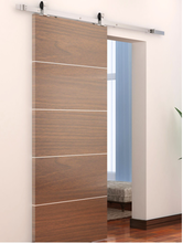 Steel barn door hardwares for wooden partition door sliding