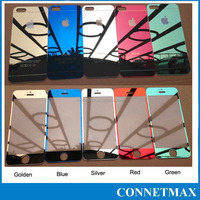 Color Mirror Tempered Glass Screen Protector for Apple iPhone5 /5S (Front+Back)