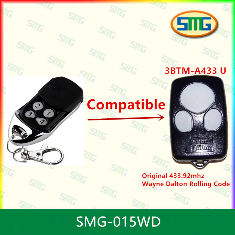 SMG-015WD Replace Wayne Dalton 3BTM-A433 <strong>U</strong> 3 Button Visor or Key Chain Remote Control 433.92 MHz