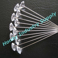 Fascinating 50mm crystal head decorative diamond pin