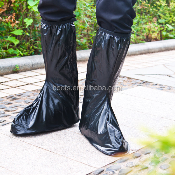 black pvc 40cm height garden working rain shoes covers