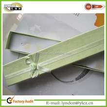 Fashion treasure necklace jewelry box with ribbon