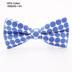 Factory Of Latest Style Custom Casual 100% Cotton Colorful Dots Bow Ties