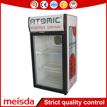 Hotel Mini 80L Can Drink Display Cooler With Inner Light