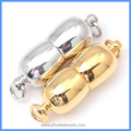 White Rhodium And Gold Plated 7x20mm 925 Sterling Silver Magnetic Clasps For Cord Ends Rope Necklace And Bracelets SC-MC007