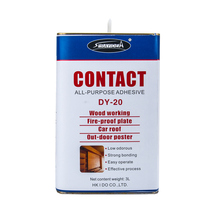 Permanent bonding spray adhesive for building decoration