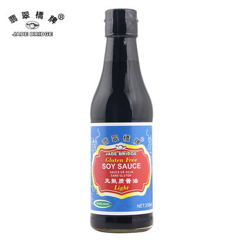 250ml msg free Chinese gluten free light soy sauce