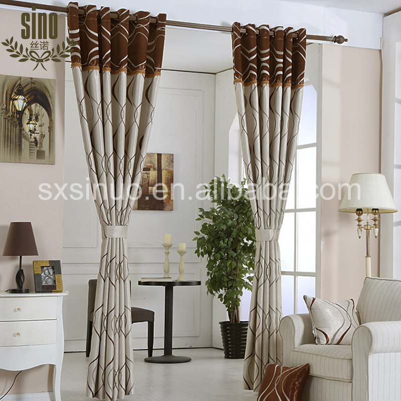 Custom Color Home Used Wholesale modern bedroom curtains