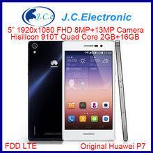 In Stock 5.0'' Huawei P7 Dual SIM 4G FDD-LTE Quad Core 2G+16G Android 4.2 Phone FHD 1920*1080P Screen WiFi GPS 13.0MP Camera