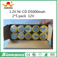 nicd D 12V 5000mAh rechargeable battery pack Ni-cd D replacement