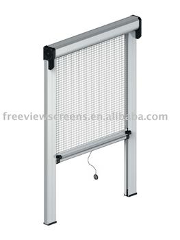 Retractable insect screen window buy retractable insect for Retractable window fly screens