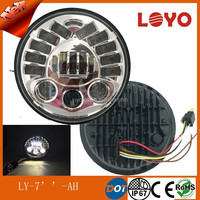 "Car accessories 4*4 led adaptive 7"" headlight DOT approval round 70w led headlight for jeep and motorcycle"