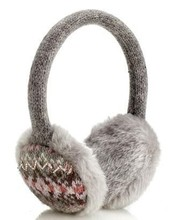 hot selling fashion 100% acrylic winter customized knitted jacquard earmuff(earcap) with jacquard logo