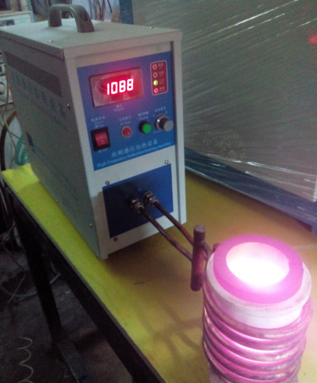 Induction heater for mini furnace