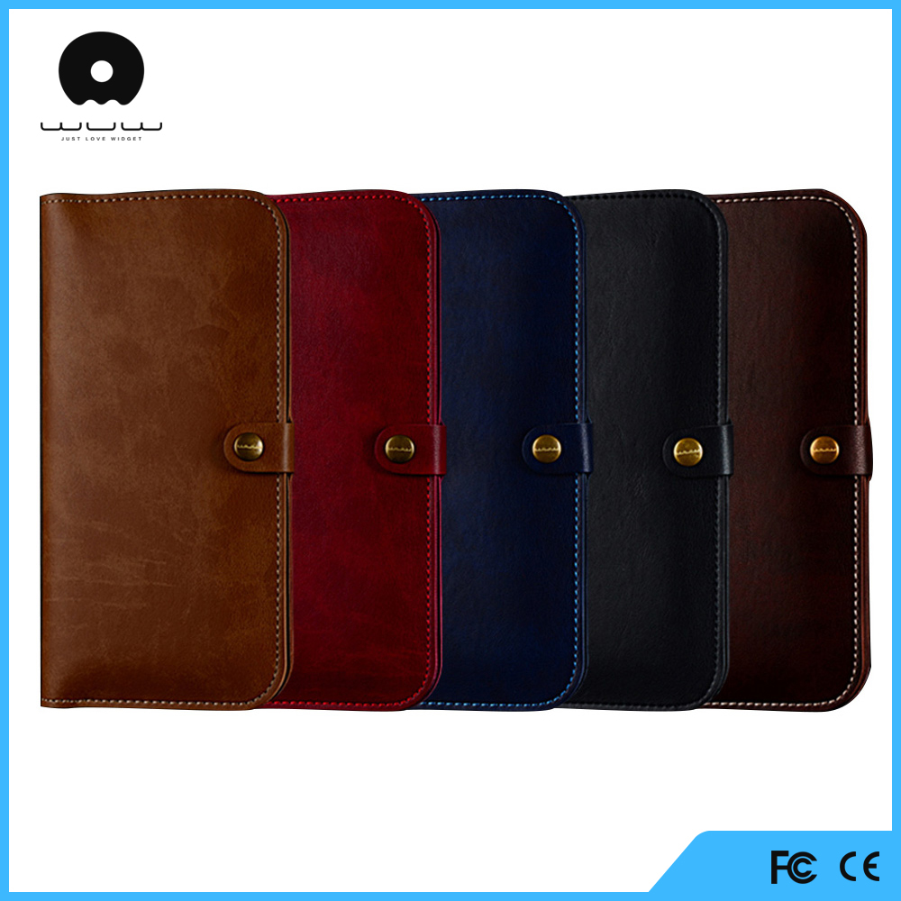 exceptional quality pu wallet cover for iphone 6 case with holder for stylus