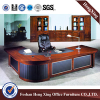 2.8m L shape solid wood veneer executive office table (HX-RD6065)