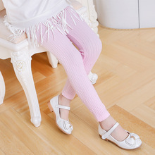 New style knitted girl's colorful twist design thin leggings