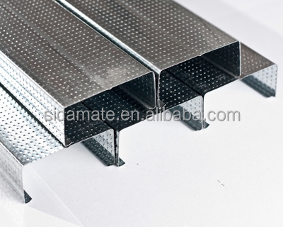 Metal ceiling materials galvanized steel channel metal channel furring channel plasterboard PVC ceiling tiles