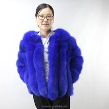 Luxury Whole Skin Genuine Fox Fur Jacket Short Design Real Fox Fur coat