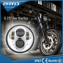 OVOVS 50w round hi/lo beam projector 5.75'' motorcycle headlight for h-arley