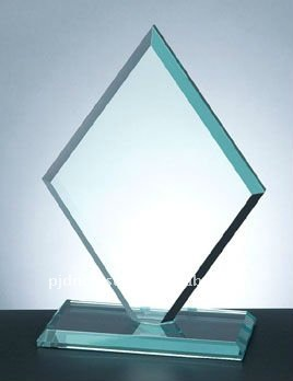Jade Crystal Square Diamond with Slant Edge Base