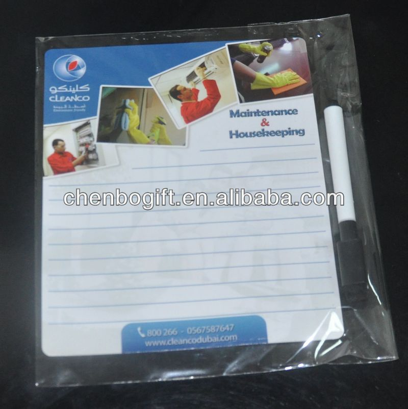 OEM magnetic whiteboard sheet , magnetic memo pad board , fridge magnet writing board