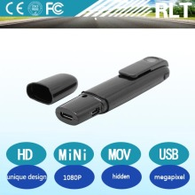 HD 1080P Megapixel H.264 MOV Unique design Recording with recharging li battery Video& Audio output function Hidden Mini Camera