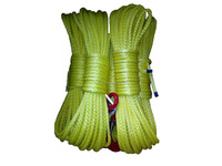 8mm x 30m UHMWPE synthetic winch rope with hook thimble sleeve packed as full set