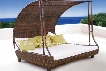 double beach chair for two person rattan sun bed buy. Black Bedroom Furniture Sets. Home Design Ideas