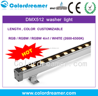 Standard DMX 512 LED strip wall washer lights for indoor outdoor wall lighting decor,DC12-24V 30W RGB/RGBW/W/Y