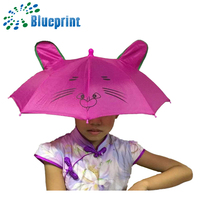 personalized durable steel frame tiger shape fabric head umbrella
