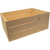 Cheap factory price natural color wooden crate