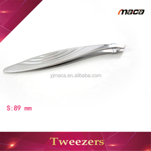 TW1229 wholesale cosmetic curved lady eyebrow facial hair tweezers