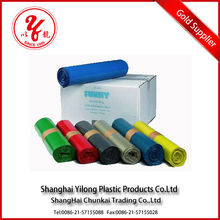 2014 LATEST!!colored custom printed plastic garbage bags with logo carton packaging