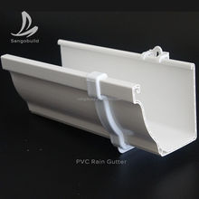 Export Kenya high quality 5.2'' white PVC rain gutter valley,rain water collector
