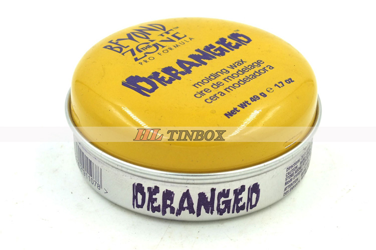 Aluminum Round Cosmetics Tin Can Wax Tin Box