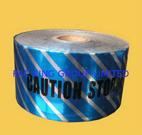 Detectable Aluminum Warning Tape for protecting underground piper