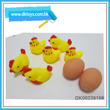 Safe Soft Plastic 2Pcs Eggs With 6Pcs Chickens Toys For Kids With Health Certificate