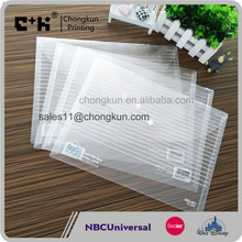 Eco-friendly Clear A4 PVC Plastic File Bag/Folder with Snap Button