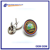 customized epoxy coated logo metal collar pin with butterfly buckle/clutch on back