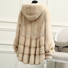 2017/2018 Wholesale New Style Natural Color Real Mink Fur Coat with Factory Cheap Prices