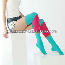 Fashion lady fluorescent color thigh high slimming socks
